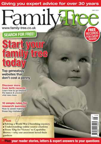 Family Tree issue Family Tree May 2016