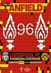 Liverpool FC Programmes issue Liverpool v Borussia Dortmund Europa League 201516