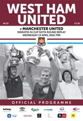 West Ham Utd Official Programmes issue FA CUP MAN UNITED