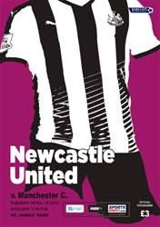 Newcastle United Programmes issue v Manchester City