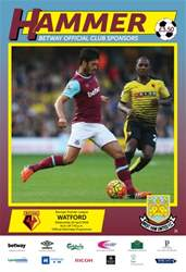 West Ham Utd Official Programmes issue WATFORD  BPL