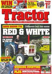 Tractor & Farming Heritage Magazine issue June 2016 Red & White