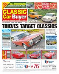Classic Car Buyer issue No. 328 Thieves Target Classics