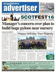 Argyllshire Advertiser issue 29th April 2016