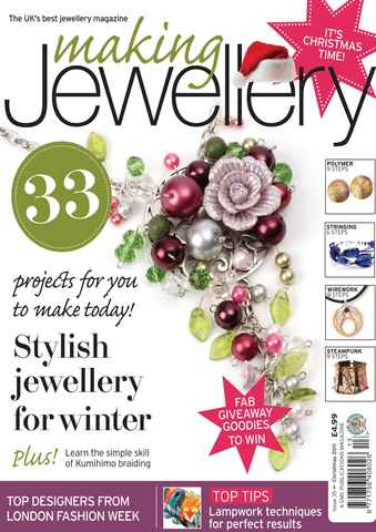 Making Jewellery issue Christmas 2011