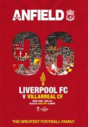 Liverpool FC Programmes issue Liverpool v Villarreal Europa League 2015/16