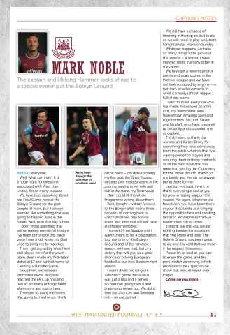 West Ham Utd Official Programmes Preview 11