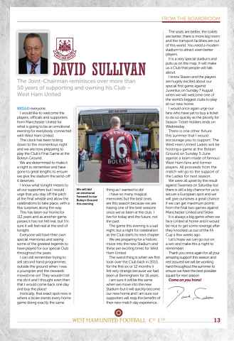 West Ham Utd Official Programmes Preview 13