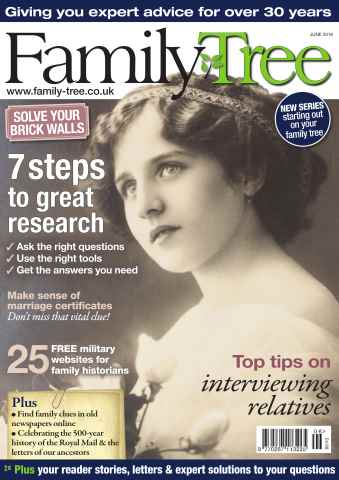 Family Tree issue Family Tree June 2016
