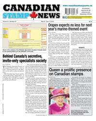 Canadian Stamp News issue V41#03 - May 31
