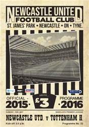 Newcastle United Programmes issue V Tottenham Hotspur