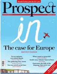 Prospect Magazine issue June 2016