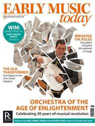 Early Music Today issue June - Aug 2016