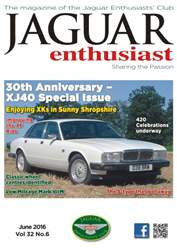 Jaguar Enthusiast issue Vol. 32 No. 6 30th Anniversary XJ40 Special Issue