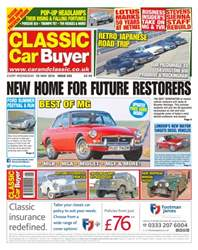 Classic Car Buyer issue No. 332- New Home For Future Restorers