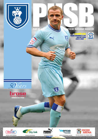 CCFC Official Programmes issue 11 V CARDIFF CITY (11-12)