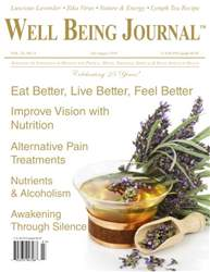 Well Being Journal issue Vol. 25 No. 4 JulyAugust 2016