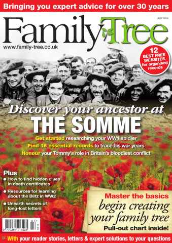 Family Tree issue Family Tree July 2016