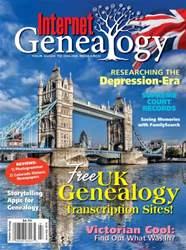 Internet Genealogy issue Jun-July 2016