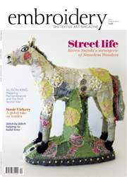 Embroidery Magazine issue July August 2016