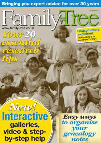 Family Tree issue Family Tree August 2016
