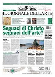 Il Giornale Dell'Arte issue luglio-agosto 2016
