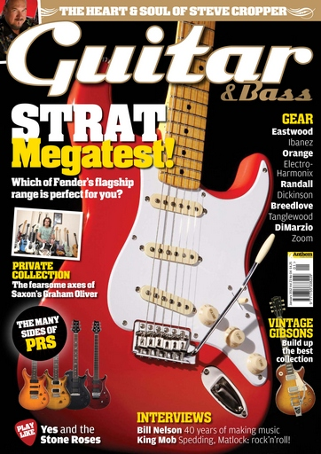 Guitar & Bass Magazine issue January 2012 Strat Megatest