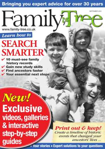 Family Tree issue Family Tree September 2016