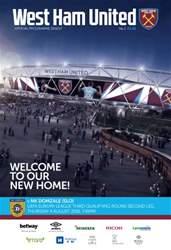 West Ham Utd Official Programmes issue NK Domzale (SLV)