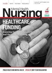 Mental Health Nursing issue August/September 2016