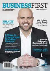 Business First Magazine issue Aug/Sept 2016