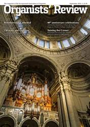 Organists' Review issue September 2016