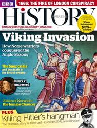 BBC History Magazine issue September 2016