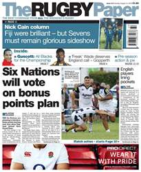 The Rugby Paper issue 14th August 2016