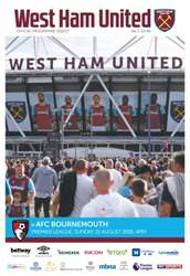 West Ham Utd Official Programmes issue AFC Bournemouth