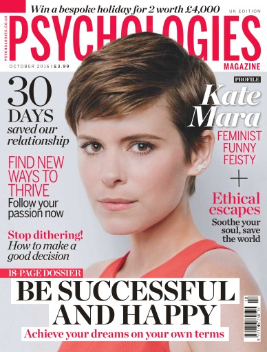 Psychologies issue No. 133 Be Successful And Happy