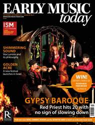 Early Music Today issue Sept - Nov