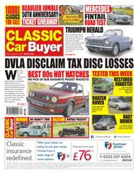 Classic Car Buyer issue No. 345 DVLA Disclaim Tax Disc Losses