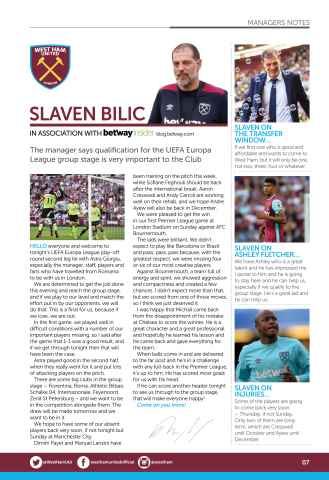 West Ham Utd Official Programmes Preview 7