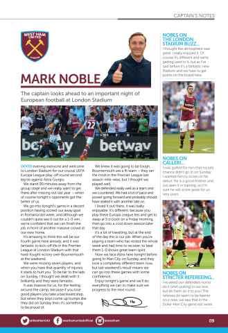 West Ham Utd Official Programmes Preview 9