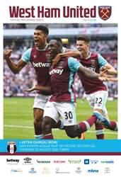 West Ham Utd Official Programmes issue Astra Giurgiu