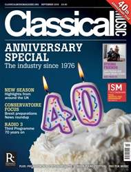 Classical Music issue September 2016