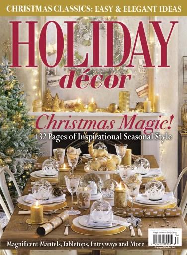 romantic homes magazine holiday decor winter 2016