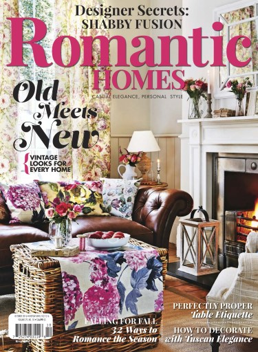 Romantic homes magazine october 2016 subscriptions for Free interior design magazine subscriptions