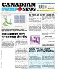 Canadian Stamp News issue V41#12 - October 4