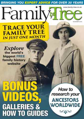 Family Tree issue Family Tree November 2016
