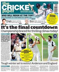 The Cricket Paper issue 23rd September 2016