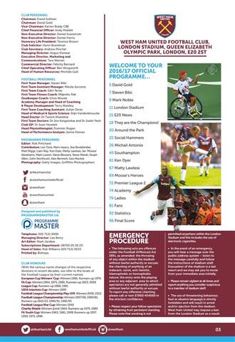 West Ham Utd Official Programmes Preview 3