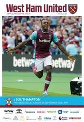 West Ham Utd Official Programmes issue Southampton