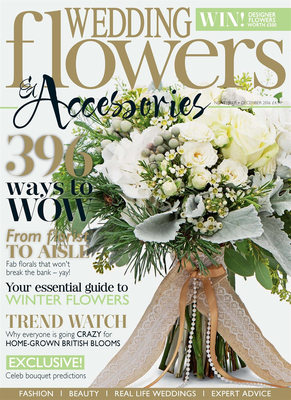wedding flowers magazine november december16 subscriptions pocketmags. Black Bedroom Furniture Sets. Home Design Ideas